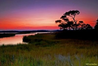 Sundown over Assawoman Bay by Bill Jonscher