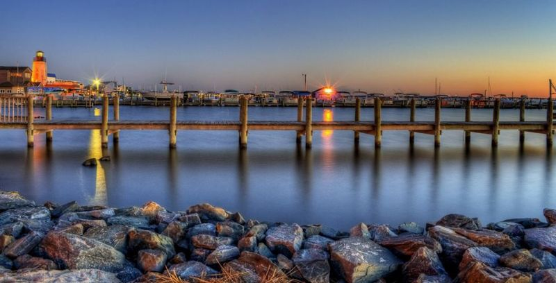 Sunset on Rehoboth Bay by David Dufresne