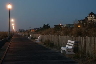 Rehoboth Boardwalk at Dawn by Don Gerberg